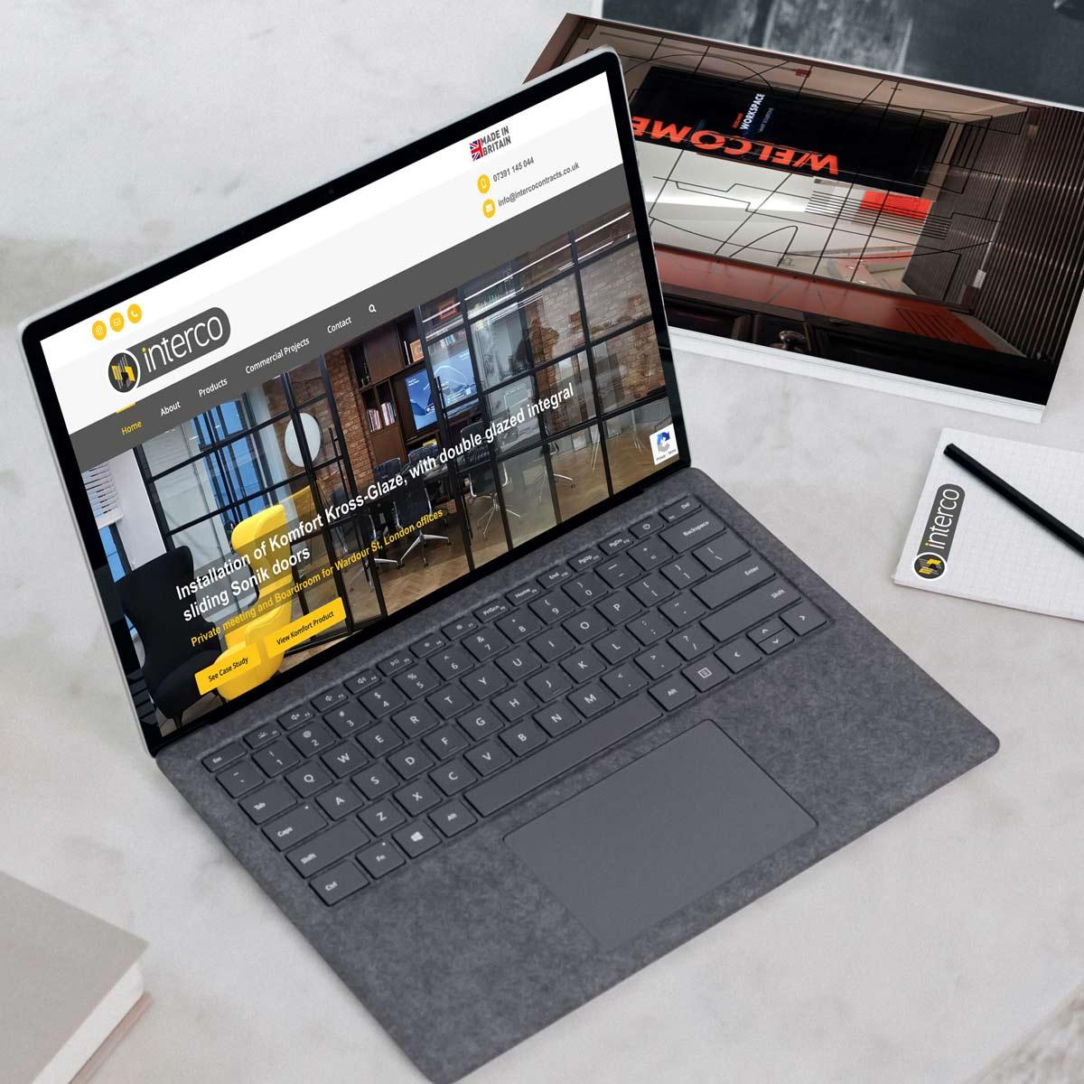 Interco Contracts Website Design